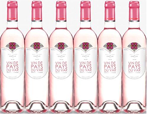 Lot de 6 Castille Vin de Pays du Var rosé
