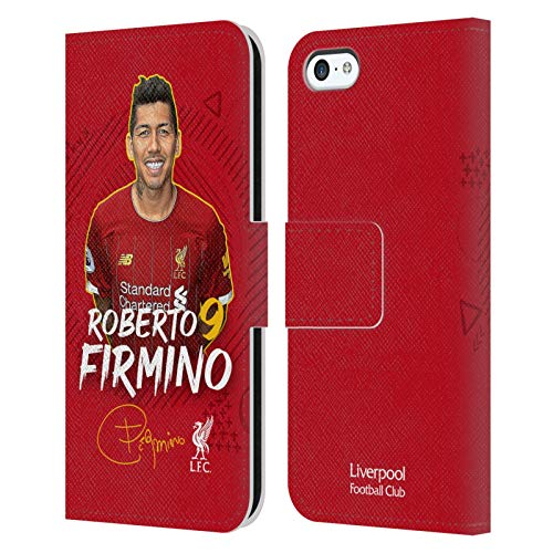 Head Case Designs Oficial Liverpool Football Club Roberto Firmino 2019/20 Primer Equipo Grupo 1 Carcasa de Cuero Tipo Libro Compatible con Apple iPhone 5c