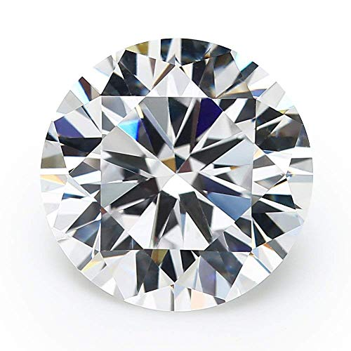 100PCS 5A Round Machine Cut White Cubic Zirconia Stones Loose CZ Stones JIANGYUANGEMS (4.0mm)