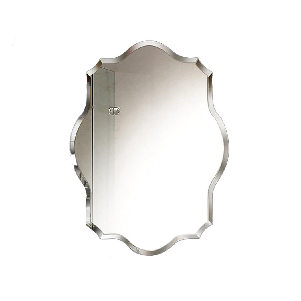 風邪をひく作りリングレットSZQ ウォールマウントミラー、バスルーム/多機能/ベッドルーム/装飾/縁なし/多角形/メイクアップミラー/クリエイティブミラー 反射良い (サイズ さいず : 60 * 80CM)