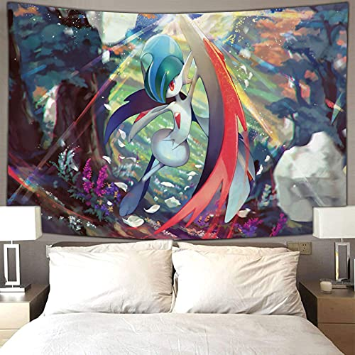 Arte colgante de pared para decoración del hogar Anime Pokemon Vertical Art Manta colgante de pared 80 x 60 pulgadas (210 x 150 cm)