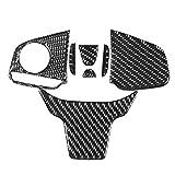 TRJGDCP Los ataques de Fibra de Carbono Interruptor de botón del Volante Panel de Revestimiento de Cubierta for Honda Civic 10 de FC/FK 2016 2017 2018 2019 Autopartes (Color Name : C)