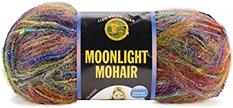 Lion Brand Moonlight Mohair Yarn, Rainbow Falls