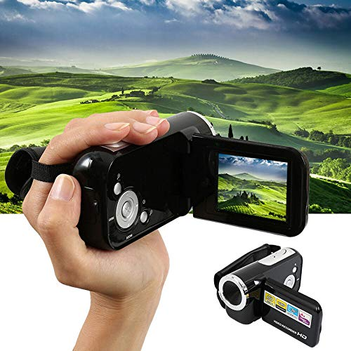 HRNAKDFKL Videocámara FHD 1080P 30FPS 16MP IR Visión Nocturna YouTube Vlogging Cámara Grabadora 2.0 Pantalla LCD Zoom Digital Videocámara con micrófono