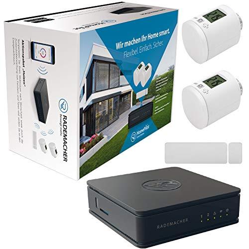 Rademacher HomePilot Aktionspaket »Heizen« Smart Home Zentrale inkl. Fenster-/Türkontakt + 2x Heizkörperstellantrieb DuoFern