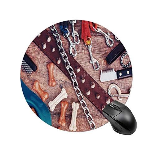 Almohadillas de ratón antideslizantes impermeables para perros, collar y correas para mascotas, diseño de animales de compañía, para ordenador portátil, oficina, 7,8 pulgadas
