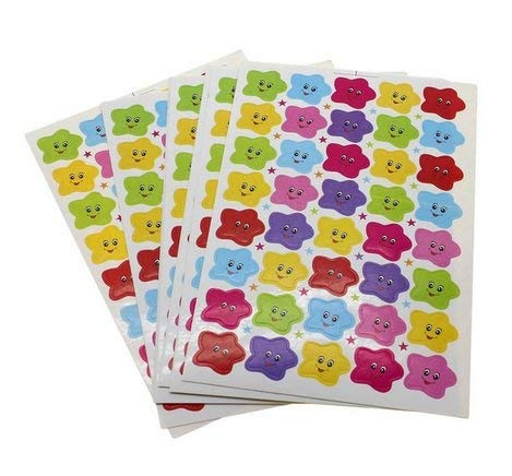 Smiling Stars Nursery & Smilies sticker Calendar for marking and 10 sheets of Colourful Stars about 400 pieces Diary Sticker Stars Smile 1.8 cm