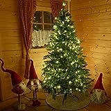 Lichterkette 20 m mit 200 Mini-Kerzen für Weihnachtsbaum mit Programme