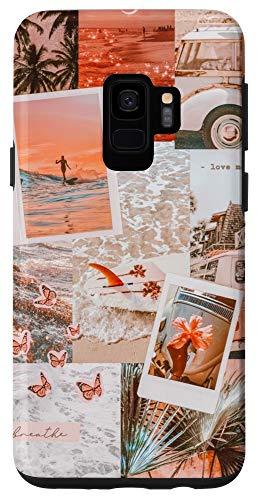 Galaxy S9 Beach, Sunset, Vacation, Retro, Collage Case