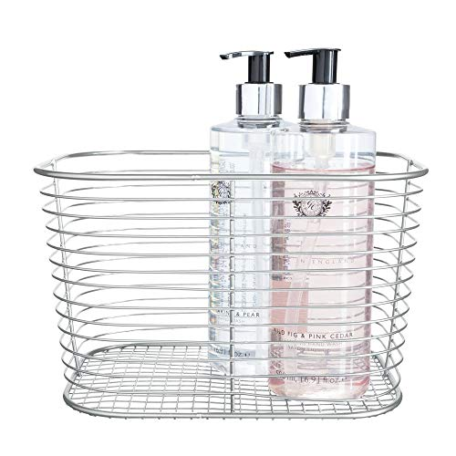 Price comparison product image iDesign Vienna Vanity,  Large Metal Bathroom Storage Cosmetics and Accessories,  Multipurpose Wire Basket for The Home,  Silver,  Steel