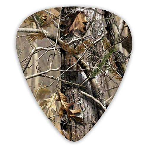 Hunting Camo Guitar Picks,Premium Guitar Picks 12 Pack For Electric Guitar And Bass Guitars, Acoustic Guitar With Different Sizes Contain Thin,Medium,Thick Gauges