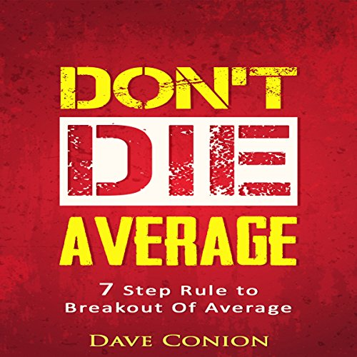 Don't Die Average audiobook cover art