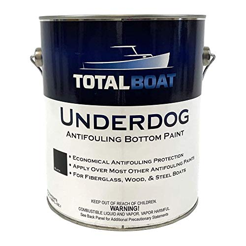 TotalBoat Underdog Marine Antifouling Bottom Paint for Fiberglass, Wood and Steel Boats (Black, Gallon)