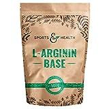 L Arginin Base Pulver - 500g Veganes Arginin Pulver 5g pro Tagesdosis - L-Arginin Ist Die Reinste Quelle Mit Höchster Bioverfügbarkeit Und Optimalen PH Wert -