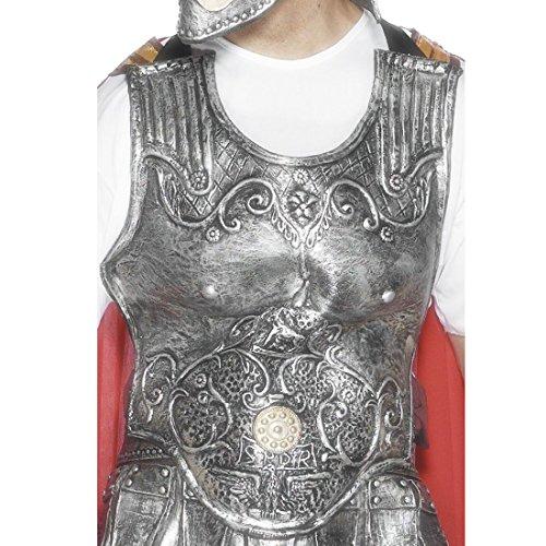 NET TOYS Römische Rüstung Silber Brustpanzer Brustplatte Gladiatorenrüstung Römer Gladiator Mittelalter Kostüm Zubehör