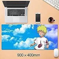 NARUTO大型マウスパッドの折りたたみ式マウスパッドファッションゲーミングマウスパッドコンピュータのラップトップデスクトップラップトップキーボードコンソール(15.75 x 35.45インチ)-A2_400 * 900 * 3mm