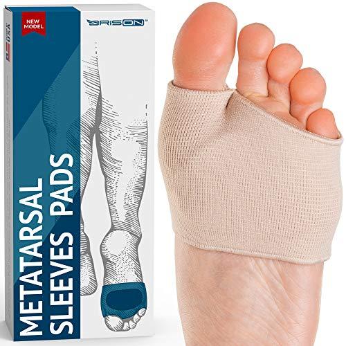Gel-Einlagen für den Mittelfuß - Weiche Fußpflege aus Stoff zum Fußheber - Motor Neuroma Blister Kallus Unterstützt Metatarsalgie Schmerzlinderung - Männer Frauen