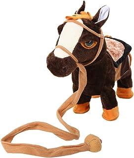 Zandreal Electric Walking Horse Plush Toys Battery Powered Stuffed Animal Kids Toy Christmas Gift