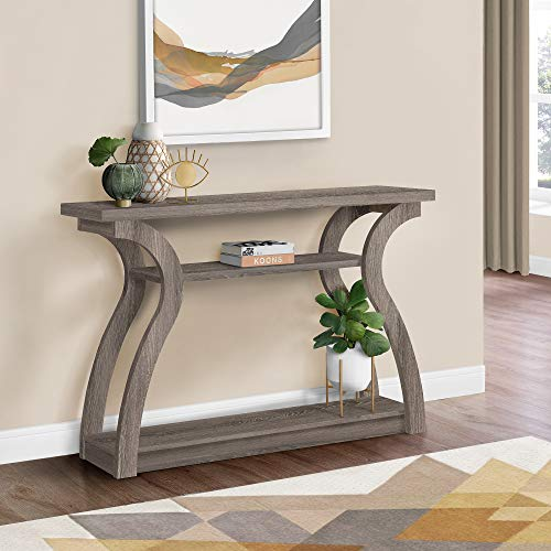 "Monarch Specialties I 2446, Hall Console, Accent Table, Dark Taupe, 47"" L"