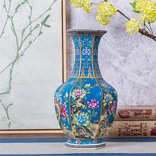 ZNYLX Vase Jingdezhen Antique Emaille Vase Polygon Vasen, A