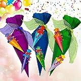 Oblique Unique® Zuckertüten Girlande Hänge Deko für Schuleinführung Einschulung Schulanfang Dekoration Banner Schule Jungs Mädchen bunt - 4