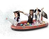 Jasonwell Inflatable Kiddie Pool Sprinkler - Splash Pad for Kids Toddler Pool Outside Children Pirate Ship Baby Pool Swimming Wading Pool Summer Outdoor Water Toys for Babies Boys Girls Yard Garden