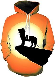 wangguifu 2020 Le Roi Lion 3D Sweats À Capuche Hommes Femmes Enfants Streetwear Roi Lion Garçon Fille Haut À Capuche Enfan...