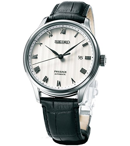 Seiko Reloj Analógico para Hombre de Automático con Correa en Cuero SRPC83J1