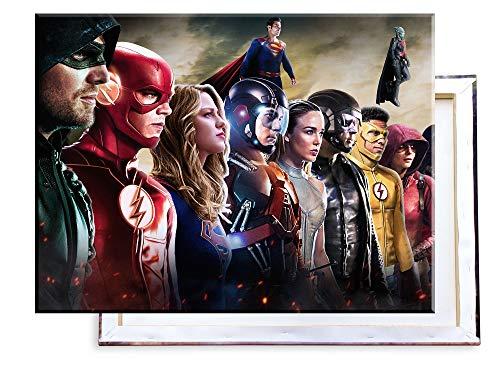Unified Distribution Arrowverse - Superheroes - 80x60 cm - Bilder & Kunstdrucke fertig auf Leinwand aufgespannt und in erstklassiger Druckqualität