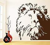 HFDHFH León Tatuajes de Pared Estudio de Oficina Estudio Dormitorio Sala de Estar diseño de Interiores Puertas y Ventanas Decorativas Pegatinas de Vinilo Arte de Pared de Animales