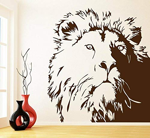 Tianpengyuanshuai wandsticker leeuw kantoor slaapkamer woonkamer design decoratie deur en raam afneembare sticker van vinyl