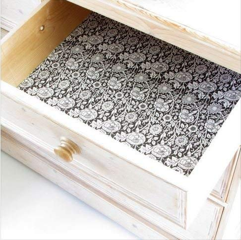 Scented Drawer & Shelf Liners - English Sandalwood Fragranced Drawer and Shelf Liners - NEW Royal Windsor Black by Best British Gifts