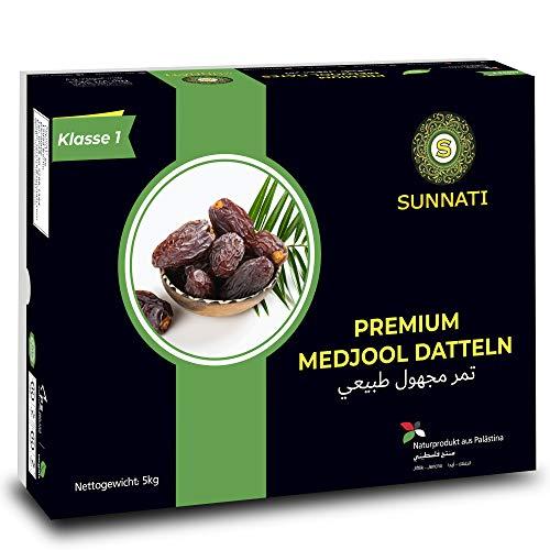 Sunnati® PREMIUM MEDJOOL Datteln aus PALÄSTINA, 100% JUMBO Medjoul Datteln 5KG