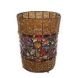 Cubos de Basura Creativo Retro Hierro Papelera Cubos de Basura Hecho A Mano Plexiglás con Cuentas Cubos de Basura de Residuos Papel Canasta de Almacenamiento Reciclar Basura Cubos de Reciclaje