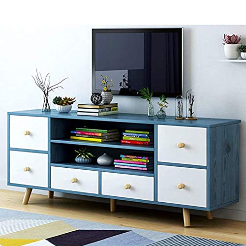 SXFYWJ Mueble TV Estrecho Mesas Televisión De Muebles Nogal Roble Televisor con Estanteria Mesa Alta Diseño Nordico Comedor Moderno para Salon Altas