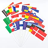 Everflag Europa-Set - 28 Papierfähnchen