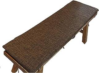 Cojín de Columpio para Banco para Interiores y Exteriores, Lino Grueso Antideslizante Cojín cómodo para salón de Patio Cojín Largo para Comedor Cojín extraíble marrón Oscuro 30x100x3cm (12x3