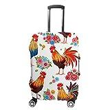 Chehong Maleta cubierta de equipaje colorido precioso gallo flores viaje Trolley caso protector lavable fibra de...