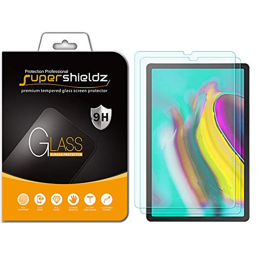 (2 Pack) Supershieldz for Samsung Galaxy Tab S5e / Tab S6 (10.5 inch) Screen Protector, (Tempered Glass) Anti Scratch, Bubble Free