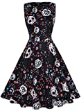 Owin Women's Vintage 1950's Floral Spring Garden Rockabilly Swing Prom Party Cocktail Dress