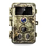 Xtellar Trail Camera 20MP 1080P IP66 Waterproof with Clear Night Vision and 3 Passive Infrared Motion Sensors for Hunting Scouting Range Control Wildlife Researching and Home Security Surveillance