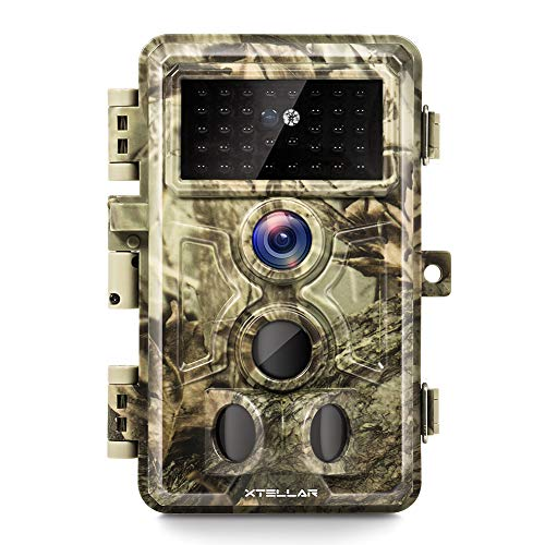 Xtellar Trail Camera 20MP 1080P IP66 Waterproof with Clear Night Vision and...