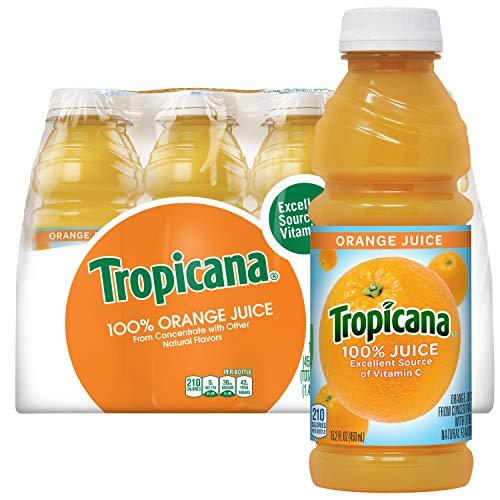 Tropicana Orange Juice, 15.2 Fl Oz Bottles, Pack of 12
