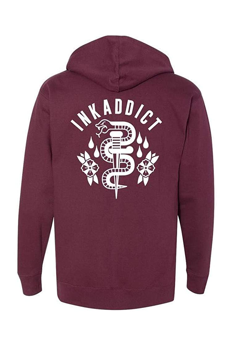 Ink Addict Unisex Hoodies - Dagger & Snake Graphic Pullover - Sweatshirts for Men and Women