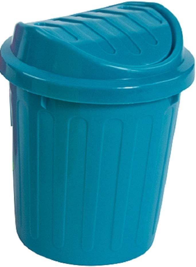 Small Waste Bin Desktop Garbage Basket Table Roll Swing Lid Mini Trash Can 2018
