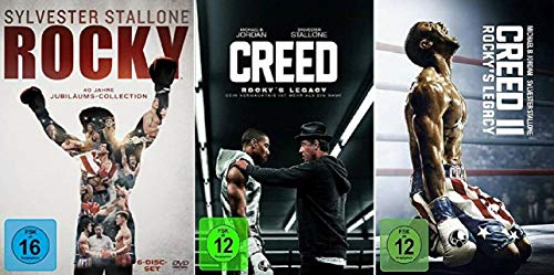 Rocky 1-6 DVD Box + Creed - Rocky's Legacy Teil 1+2 [DVD Set]