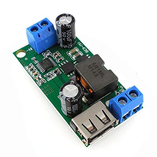 HW-638 5V 5A Módulo reductor 9V / 12V / 24v / 36V a 5V DC-DC Estabilizador de voltaje para convertidor de potencia regulado a bordo de alta potencia - Verde