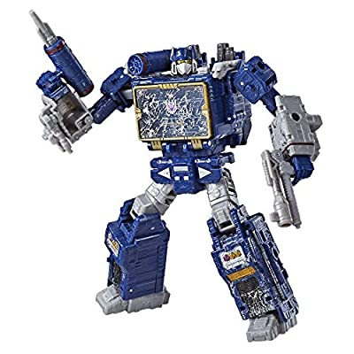 Transformers Toys Generations War for Cybertron Voyager Wfc-S25 Soundwave Action Figure - Siege Chapter - Adults & Kids Ages 8 & Up, 7""