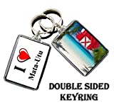 I LOVE MATA-UTU PORTE-CLÉS THE CITY OF WALLIS AND FUTUNA KEYCHAIN