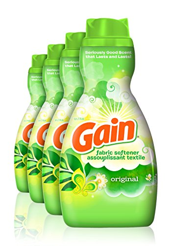 Gain Liquid Fabric Softener, Original, 41 fl oz, 4 Count